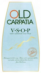 Заявка на знак для товарів і послуг № m201814376: old carpatia; vsop; v.s.o.p; making great alcohol is easy; all you need is a great-grandfather and a father who have dedicated their lives to it; jean paul camus; very superior old pale