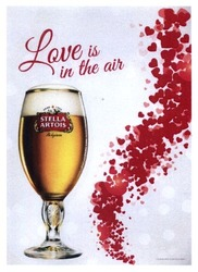 stella artois; love is in the air