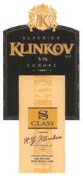 Заявка на знак для товарів і послуг № m201917420: superior; к; о; vip; class; r.g.klinkov; rg; master distiller; cognac distilled and bottled with special care