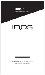 heat control technology 20 single moments; discreet personal; discreet&personal; iqos 3