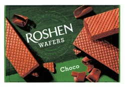 Заявка на знак для товарів і послуг № m201809455: roshen wafers; choco; created with passion; made with expertise