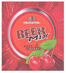 міх; пиво + вишня; beer & cherry; high quality product; оболонь beer mix