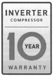 warranty; inverter compressor; 10 year