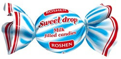 roshen; milk filled candies; sweet drop