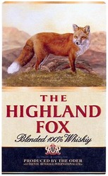 blended 100%whiskiy; produced by the oder; the highland fox