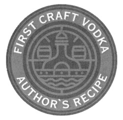 first craft vodka author's recipe; authors
