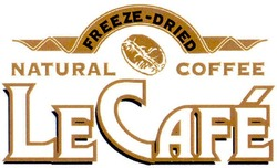 freeze-dried natural coffee le cafe; lecafe