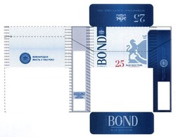 international quality since 1902; bond street; міжнародна якість з 1902 року; 25 blue selection