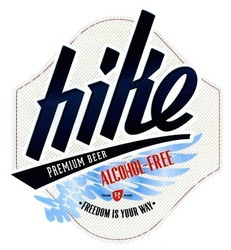 hike; alcohol-free; premium beer; freedom is your way