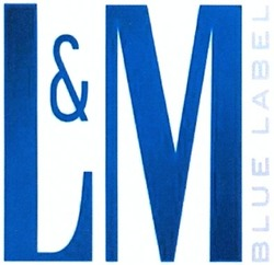 blue label; l&m; lm