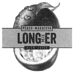 Заявка на торговельну марку № m201904149: peach-maracuya; peach maracuya; longer mix; long mixer; міх; alco-juice; alco juice