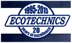 1995-2015; ecotechnics; 20 years of excellence