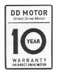 dd motor; warranty; 10year; on direct drive motor
