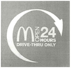 m; open 24 hours; drive-thru only; м