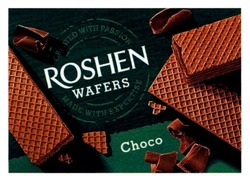 Заявка на знак для товарів і послуг № m201809616: choco; roshen wafers; made with expertise; created with passion