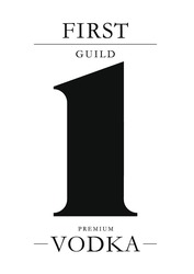 premium vodka; first guild; 1