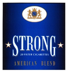 american blend; strong; 20 filter cigarettes