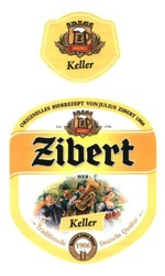 traditionelle deutsche qualitat; keller; originelles bierrezept von julius zibert 1906