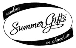 candies in chocolate; summer gifts