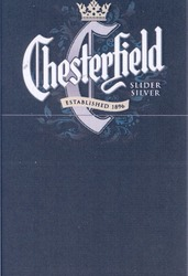 slider silver; established 1896; chesterfield; с