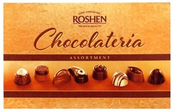 roshen; premium quality; chocolateria; assortment; fine chocolate