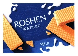 roshen wafers; milk; created with passion; made with expertise