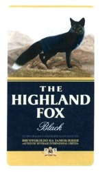 the highland fox; black