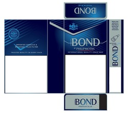 Заявка на знак для товарів і послуг № m202016310: bond street; premium blue; by philip morris; imported tobacco&recessed plus filter; trasted quality in every pack; international quality since 1902; made under authority of philip morris brands sarl; neuchatel; switzerland