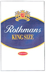 by special appointment; rothmans; filter tipped; king size