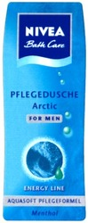 menthol; arctic; line; for men; bath care; pflegedusche; nivea; aquasoft; pflegeformel; energy