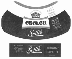 Заявка на знак для товарів і послуг № m201812859: obolon; the first ukrainian beer; london; new-york; toronto; dubai; paris; roma; berlin; warshaw; barcelona; delhi; original ukrainian beer; №1 in export; our way goes through 52 countries of the world; svitle; premium quality; ukraine export; україна експорт